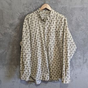 Columbia tan trout long sleeve button up